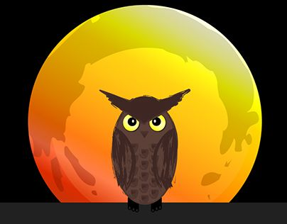 """Check out new work on my @Behance portfolio: """"Owl & Moon"""" http://on.be.net/1Iyvxw5"""