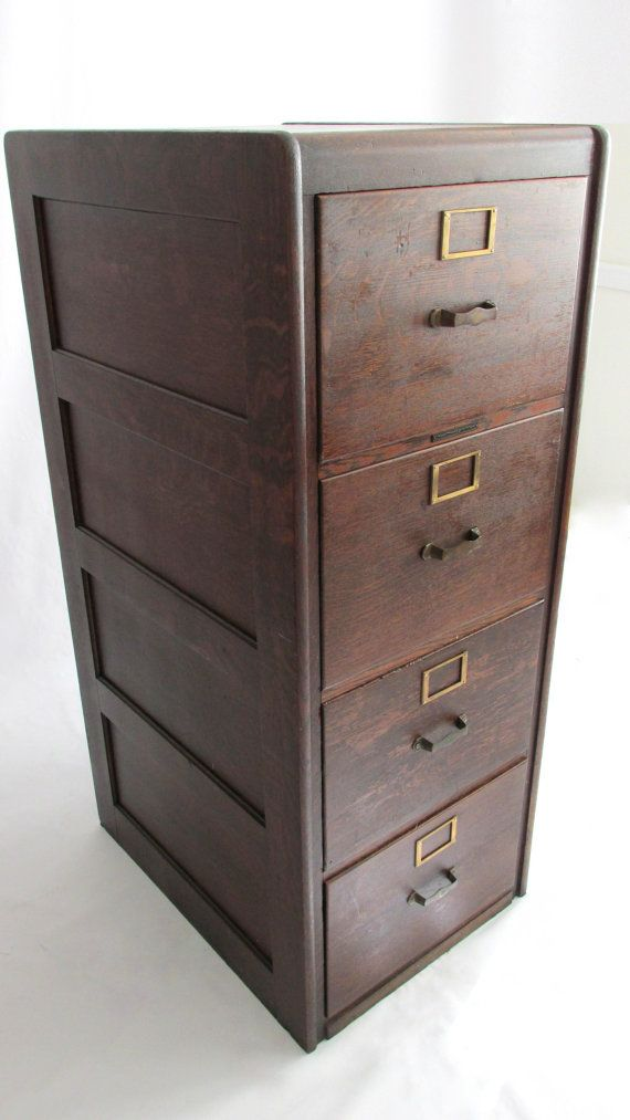 Tiger Oak Legal Filing Cabinet Library Bureau By Owlsongvintage