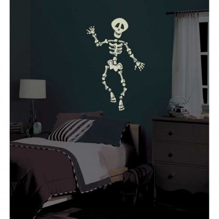 These removable and repostionable Skeleton Glow in the Dark Wall ...