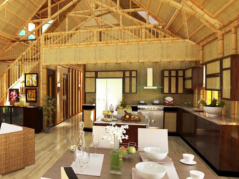Interior of Polynesian floor plan 1619 sqft Bamboo Living bamboo