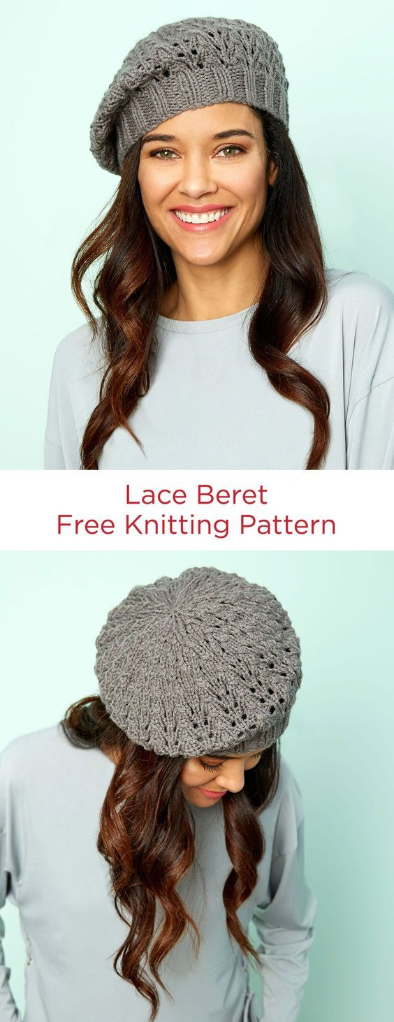 Lace beret free knitting pattern in red heart yarns a lacy lace beret free knitting pattern in red heart yarns a lacy update to a bankloansurffo Images