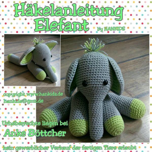 Häkelanleitung Ein Wunderschöner Amigurumi Elefant Für Anfänger