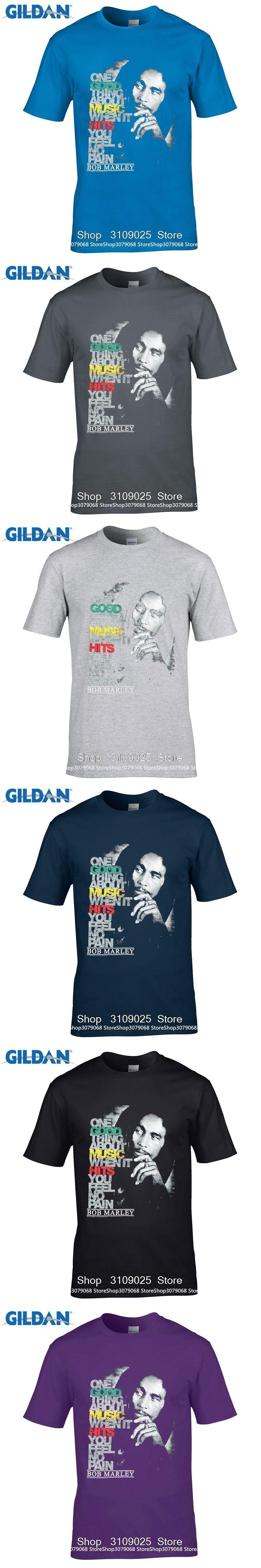 580568651 GILDAN DIY Style s t shirts Newest 2017 Fashion Stranger Things T Shirt Bob  Marley Good Music