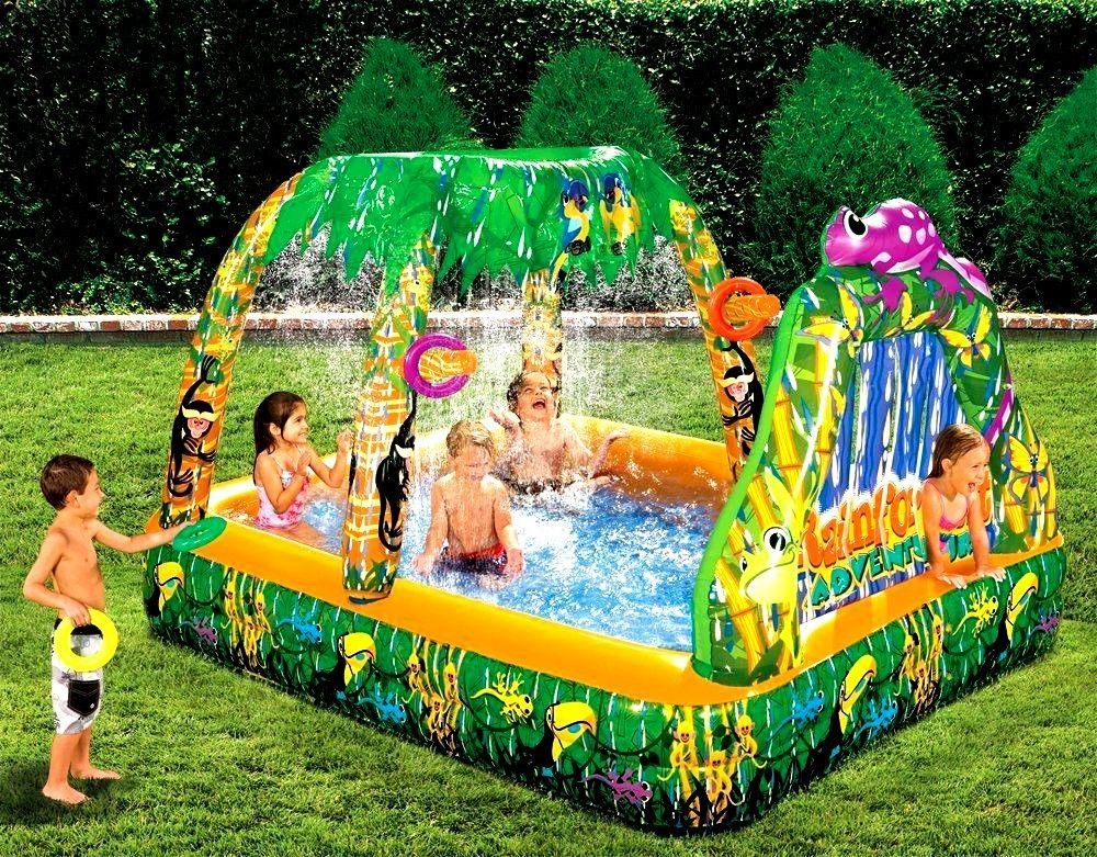 Outdoor Toys For Teens : Inflatable water swimming pool backyard garden rain forest