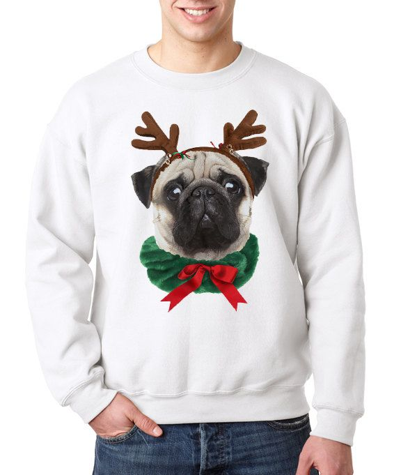 tee Pugly Christmas for Pug Owners and Dog Lovers Unisex Sweatshirt