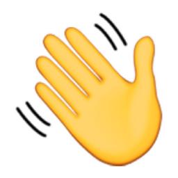 Waving Hand Sign Emoji U 1f44b U E41e Frases De Bia Noite Emojis Novos Bonecos Animados