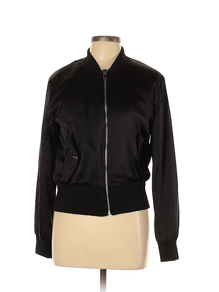 Zara Basic Jacket Black Solid Jackets Outerwear Size Large Basic Jackets Zara Basic Outerwear Jackets [ 1024 x 768 Pixel ]