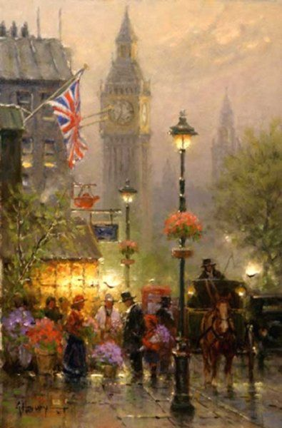 Old london by g harvey by g harvey g harvey artist for Harvey s paint and body
