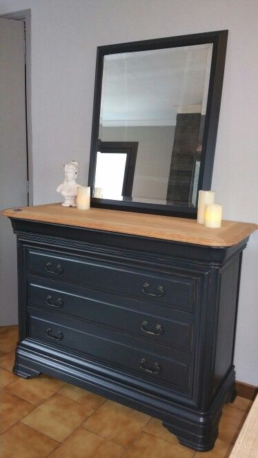Commode merisier relook e par le bel esprit decoration for Deco meuble furniture richibucto
