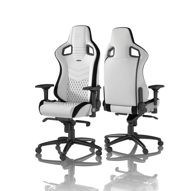Phenomenal Noblechairs Epic Gaming Chair White Black Gaming Chair Ibusinesslaw Wood Chair Design Ideas Ibusinesslaworg
