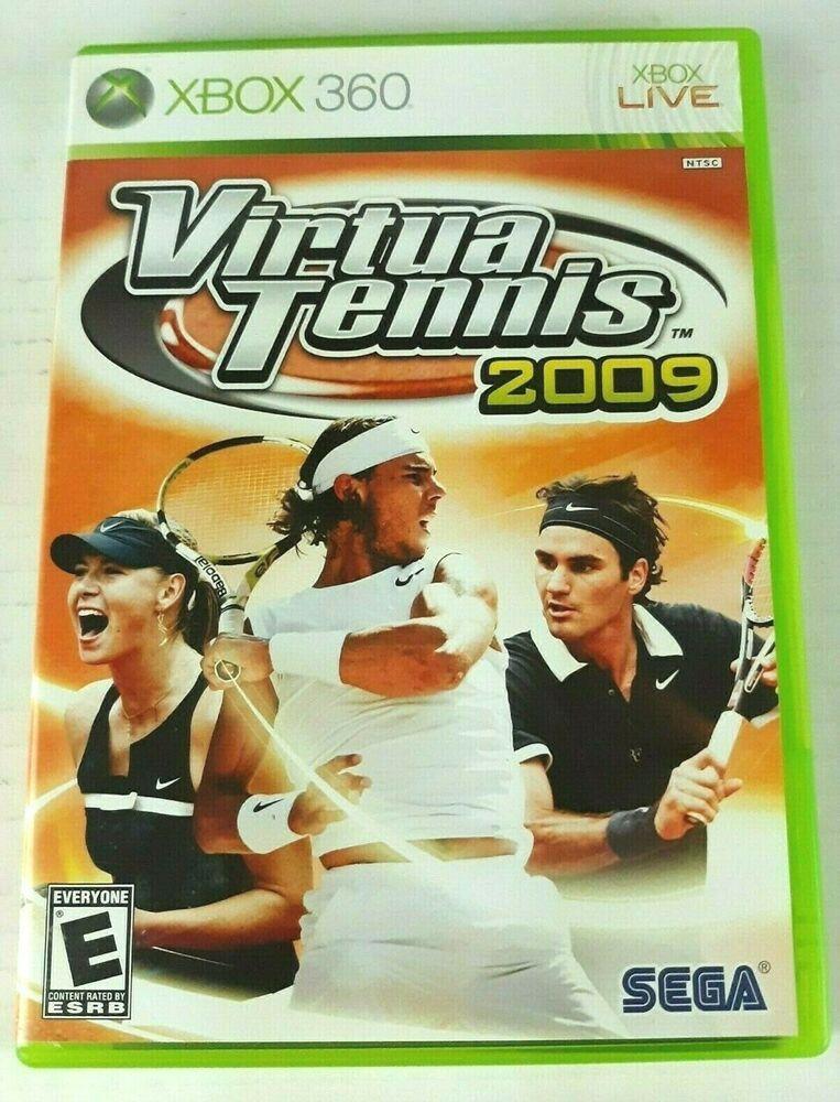 Virtua Tennis Microsoft Xbox 360 Video Game Rated E In 2020 Xbox 360 Latest Video Games Sega