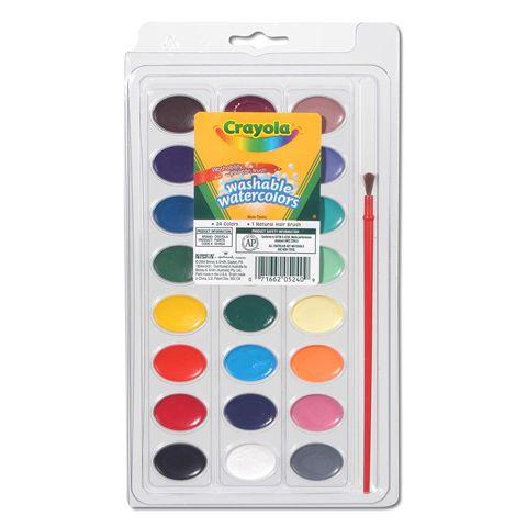 Crayola 53 0525 8 Color Washable Watercolors Watrcolrs Wash 8ct