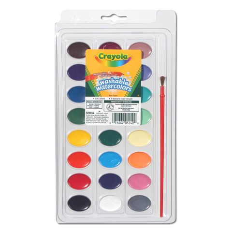Crayola Washable Watercolors 24ct Kids Watercolor Paint