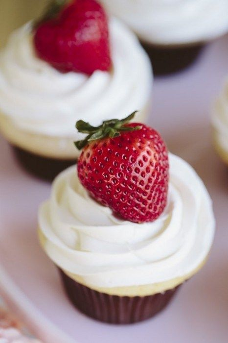 Cupcakes fragole Compleanno goloso