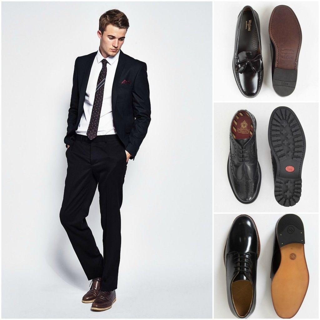 black suit black shoes - photo #20