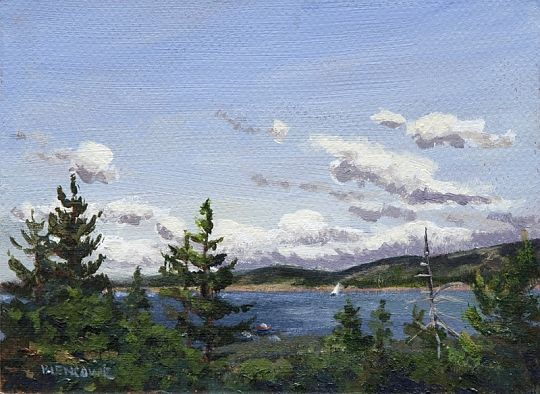 """View from Schoodic Head"" (acrylic by Jan Blencowe)"