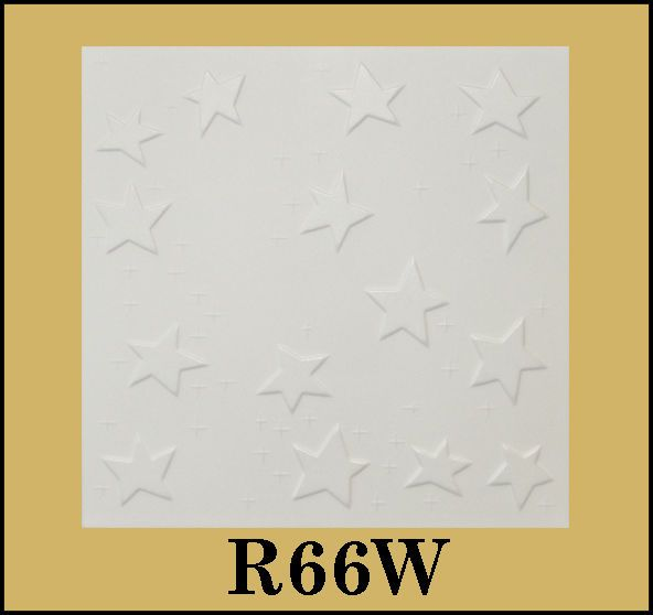 Tin-Look Styrofoam Ceiling Tiles Easy Installation - R66W #eurodeco