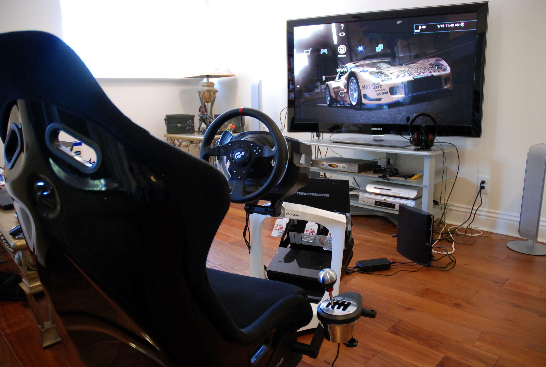 White Human Racing GT Rig... Human Racing Simulator