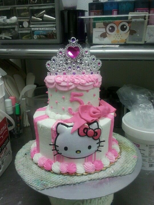 Astonishing Hello Kitty Princess Cake Hello Kitty Birthday Cake Hello Kitty Birthday Cards Printable Benkemecafe Filternl