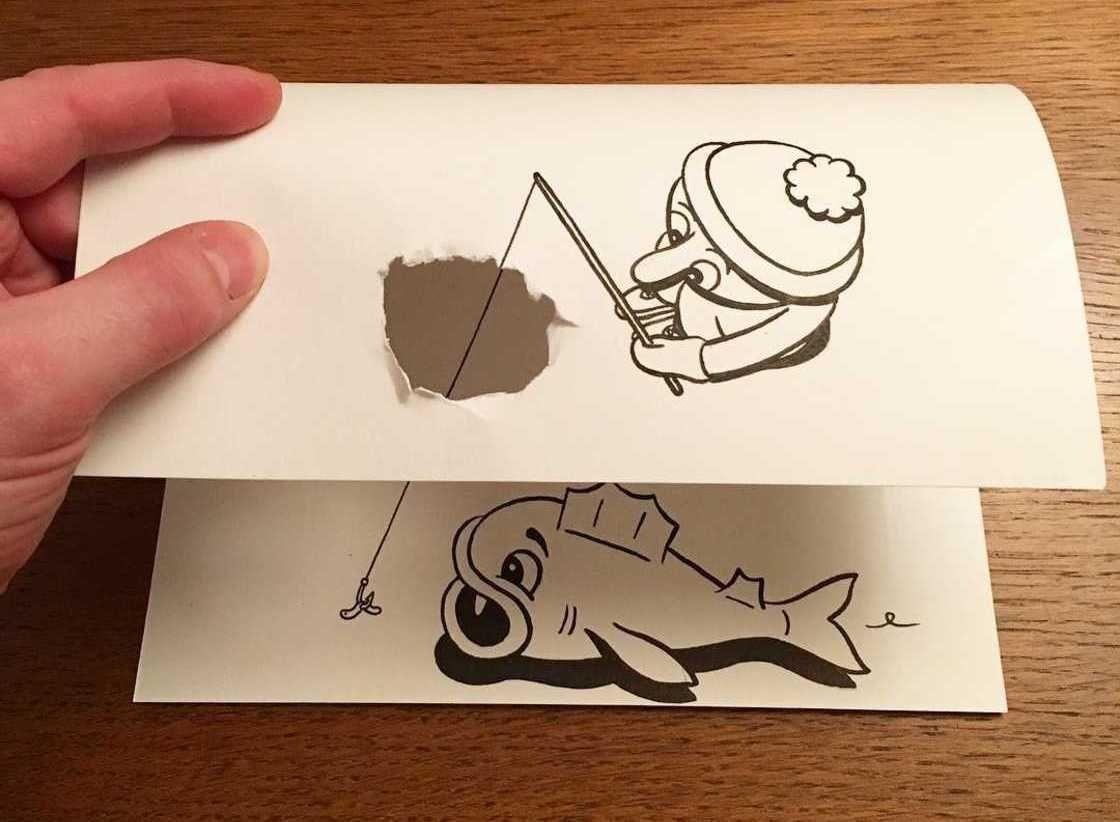 Gerissene Papierkunstwerke: Die einfachsten Mittel der 3D-Bilder Wie ...
