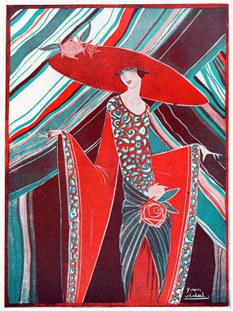Deco fashion for Art deco illustration