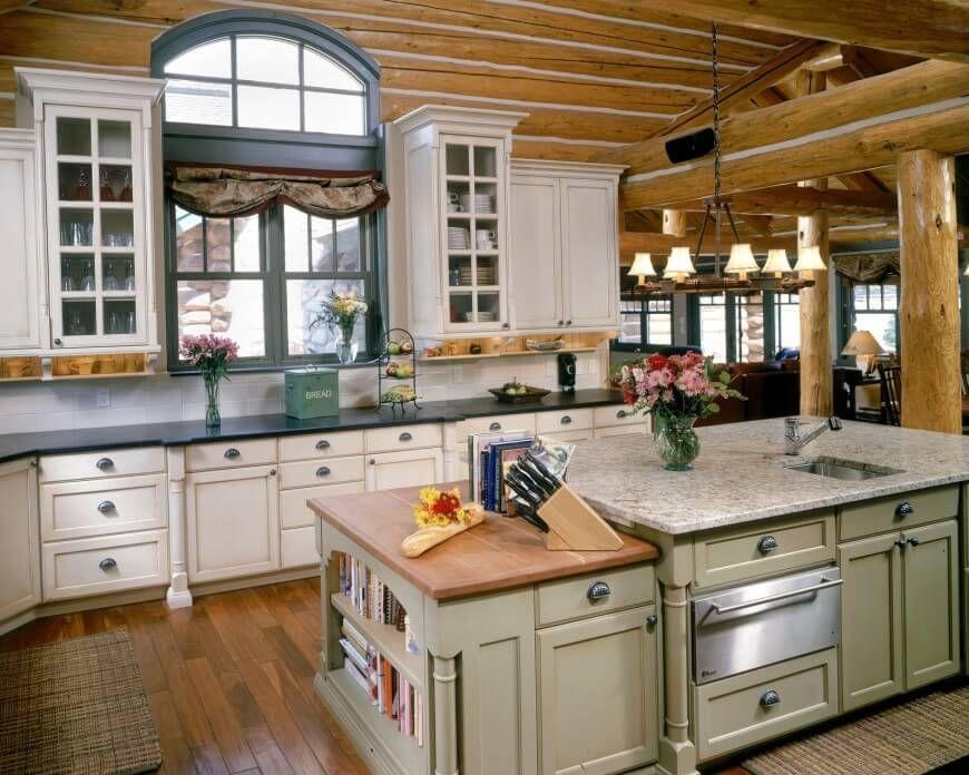 31 Custom Luxury Kitchen Designs Some 100k Plus Log Home Kitchens Log Cabin Kitchens Country Kitchen