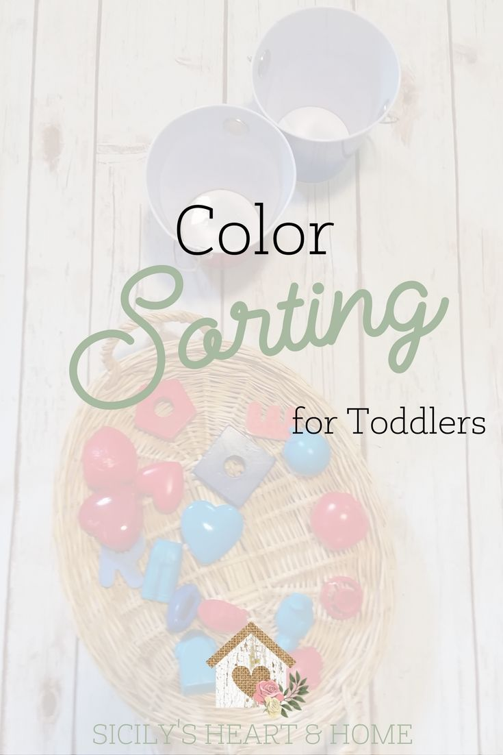 Learning colors art activities for preschool - Color Sorting Activity For Toddlers