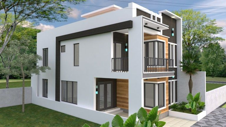 Home Design Plan 7x15m With 5 Bedrooms Samphoas Plan In 2020 Small House Design Unique House Design House Plans
