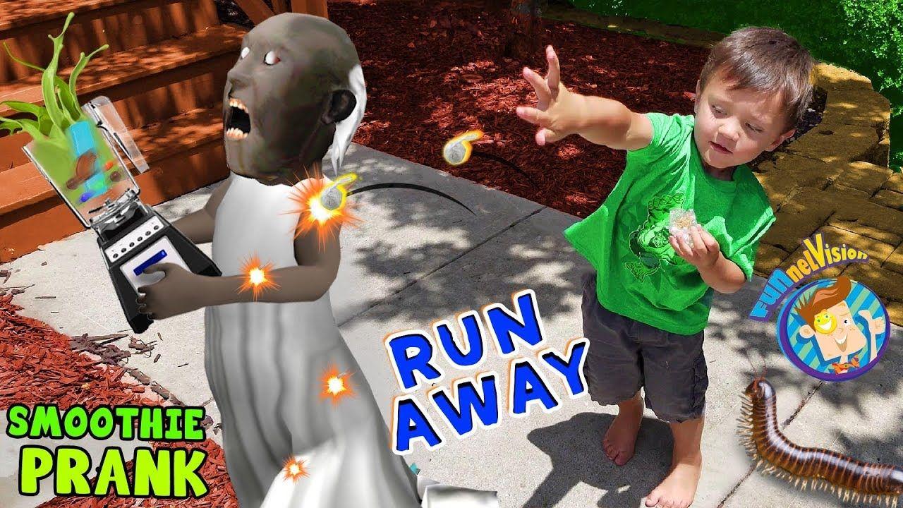 Run Away Shawn Pops Granny Funnel Fam Smoothie Prank Vision Vlog Youtube Pranks Vlogging Shawn