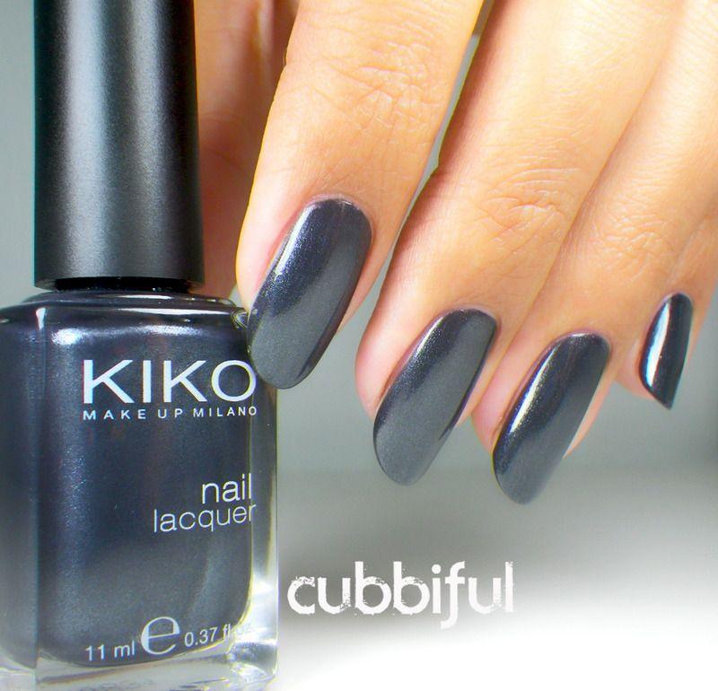 Kiko Grigio Metallico - 516 | nailed it | Pinterest | Swatch