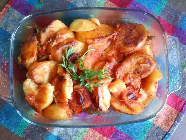 طريقة عمل صينية البطاطس بالفرن بالصور من Magy Osama Recipe Food Meat Chicken
