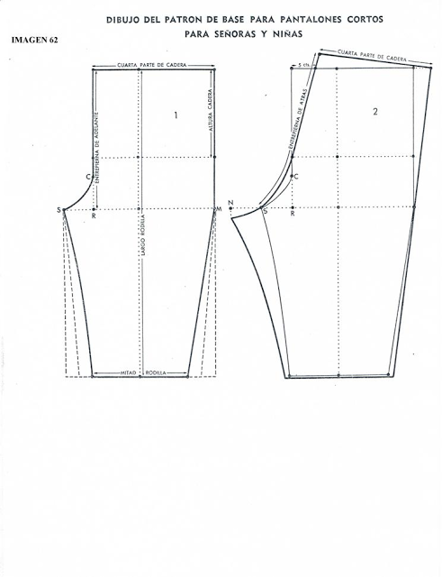 patron de pantalon | patrones ropa | Pinterest | Patrón de ...