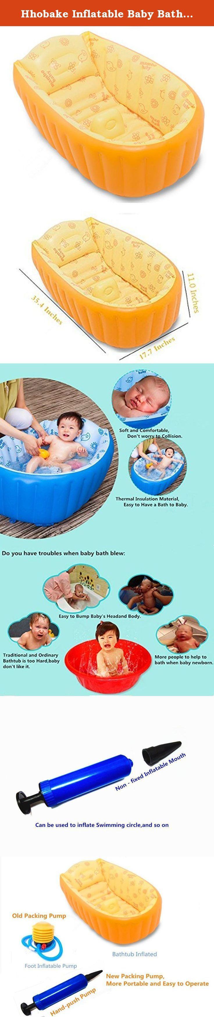Hhobake Inflatable Baby Bathing Tubs and Seats,Baby Aerated Bathtub ...