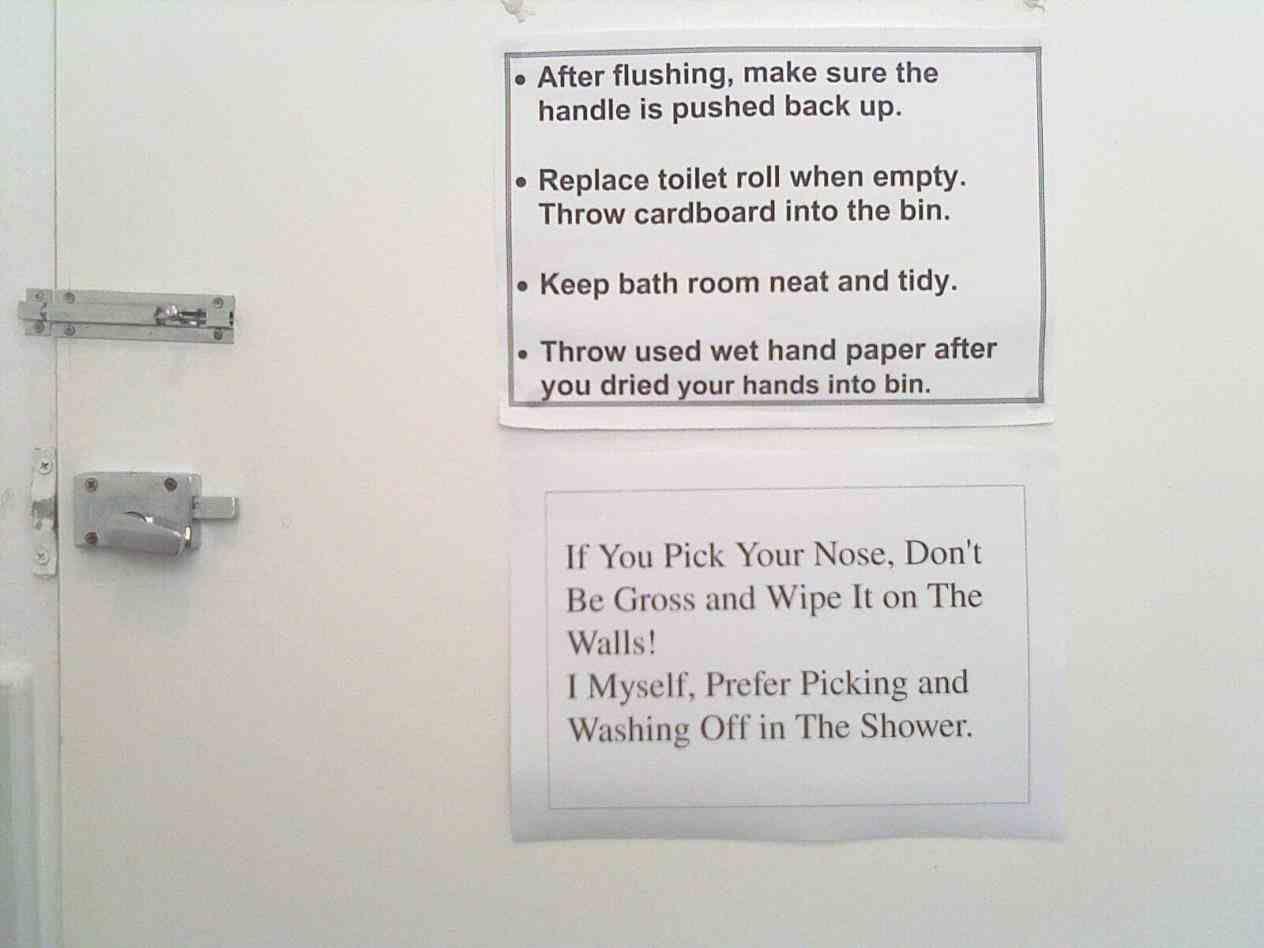 Funny Bathroom Etiquette Signs Home Ideas Pinterest Bathroom