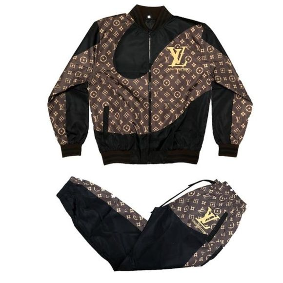 642e9dca97b12 Dapper Dan JR Louis Vuitton Set Now available in White. Also available on  abundantmerchandise.