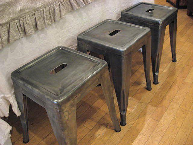 Curious Sofa Galvanized Steel Stools | A Country Farmhouse ...