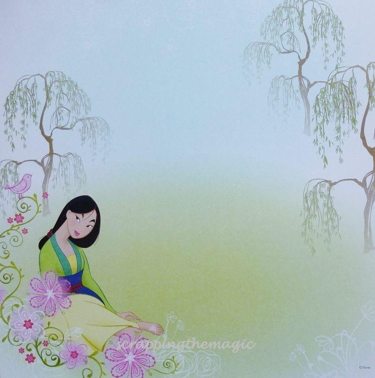 Disney Princess Scrapbook Paper | DISNEY PRINCESS MULAN EK ...