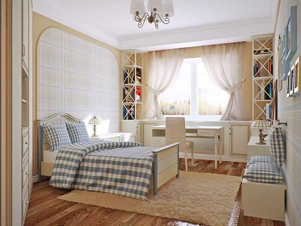 normal bedroom that nicely organized Home Interior Ideas