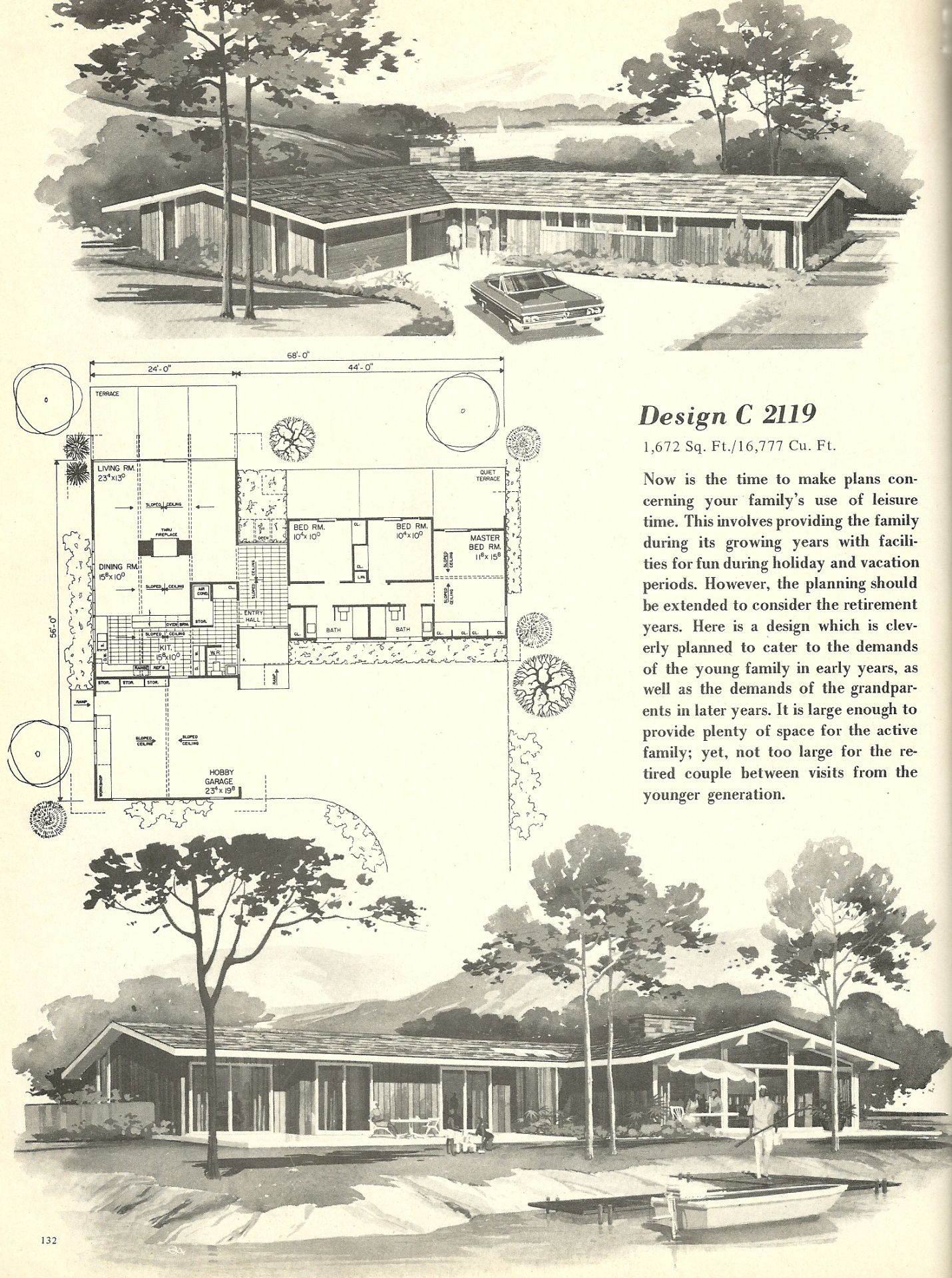 Vintage Farmhouse Plans vintage house plans, 1960s houses, mid century homes | modern