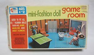 vintage game room   VINTAGE MINI FASHION DOLL GAME ROOM COMPLETE MIB W/ INSTRUCTIONS FITS ...