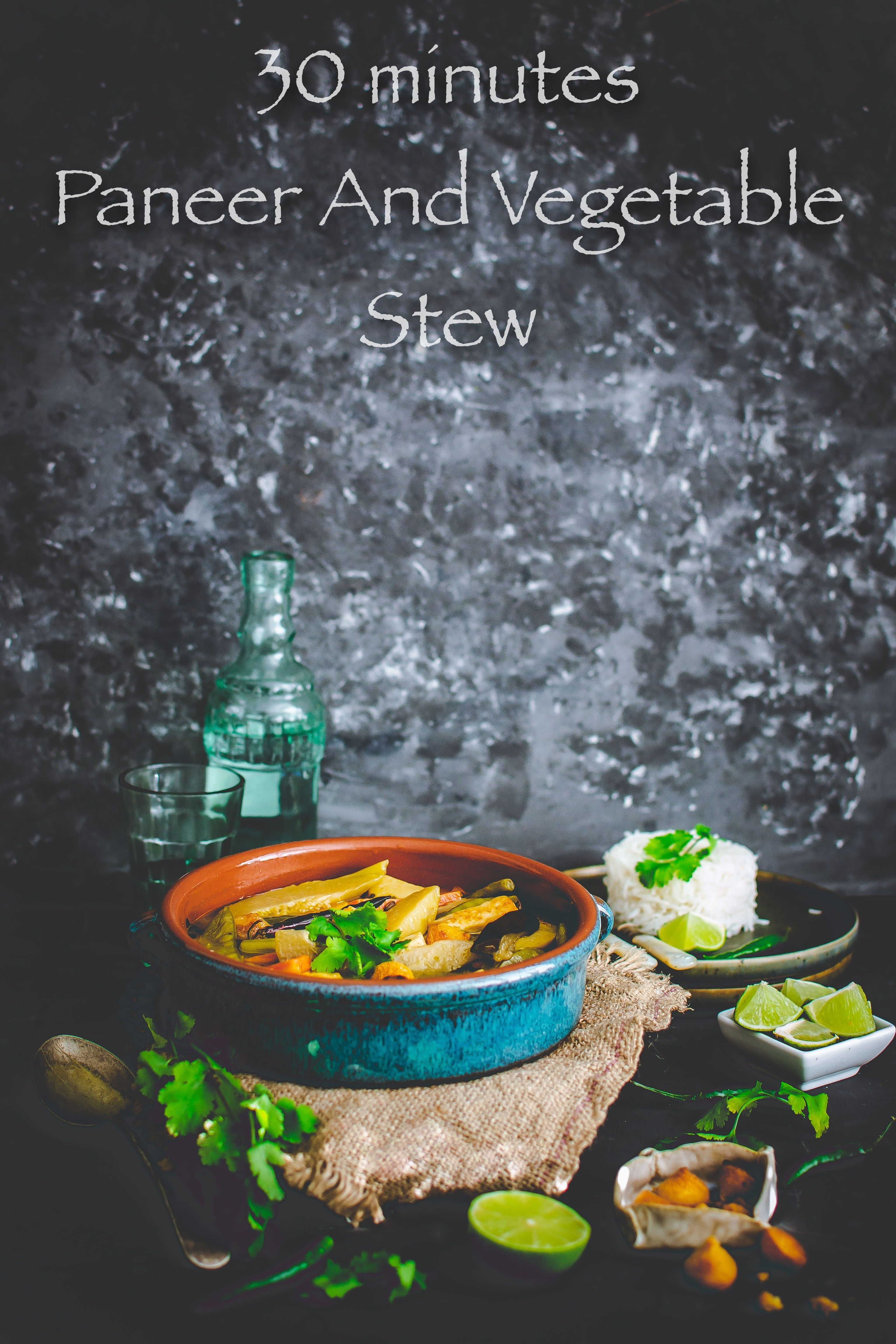 30 minute Paneer Vegetable Stew - Gastronomic BONG