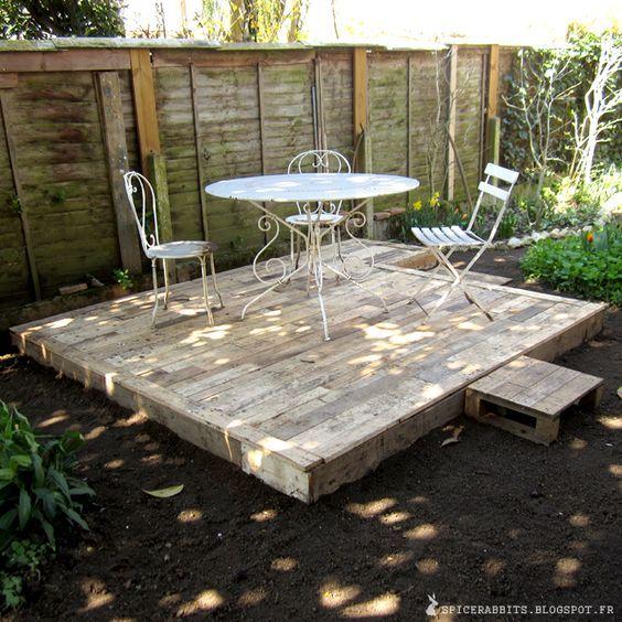 Faire Une Terrasse En Palettes  HttpSpicerabbitsBlogspotFr