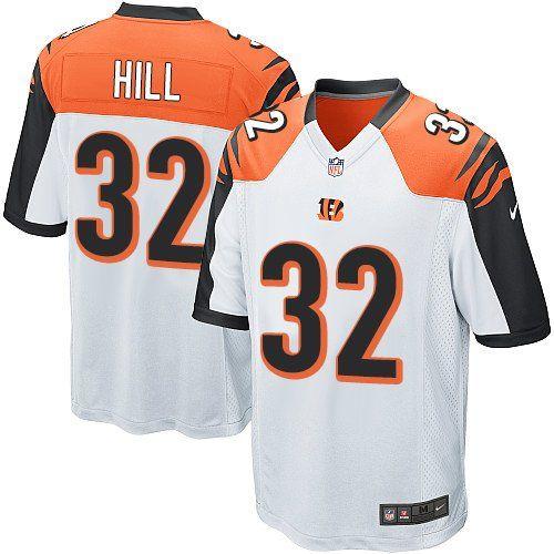 Nike Game Jeremy Hill White Men s Jersey - Cincinnati Bengals  32 NFL Road 88b068ef5