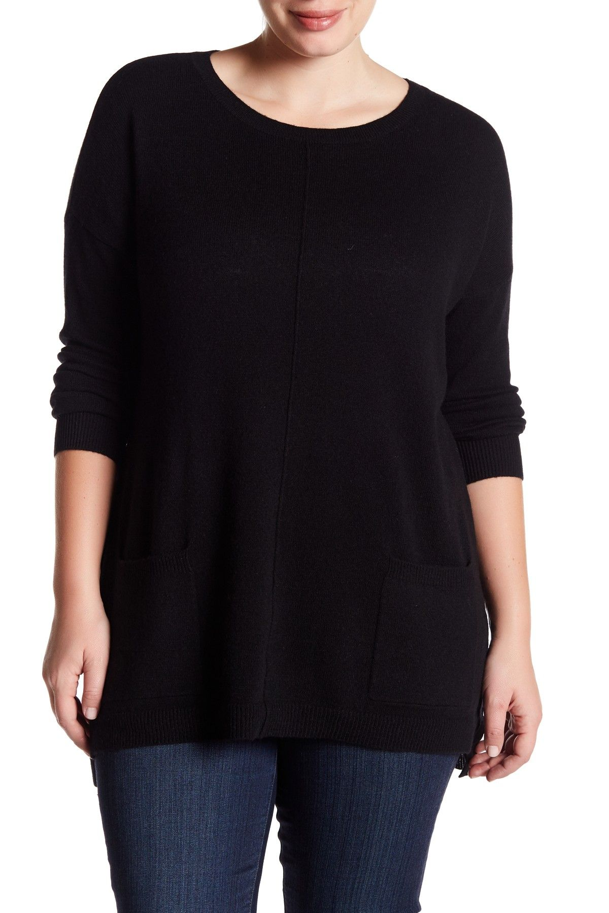 Cashmere Long Sleeve Tunic Sweater (Plus Size) | Products ...