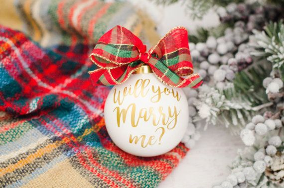 Proposal Ornament Holiday Engagement Christmas Ornament Marry Me Ornament Will You Marry Me Ornament Unique Proposal Holiday proposal