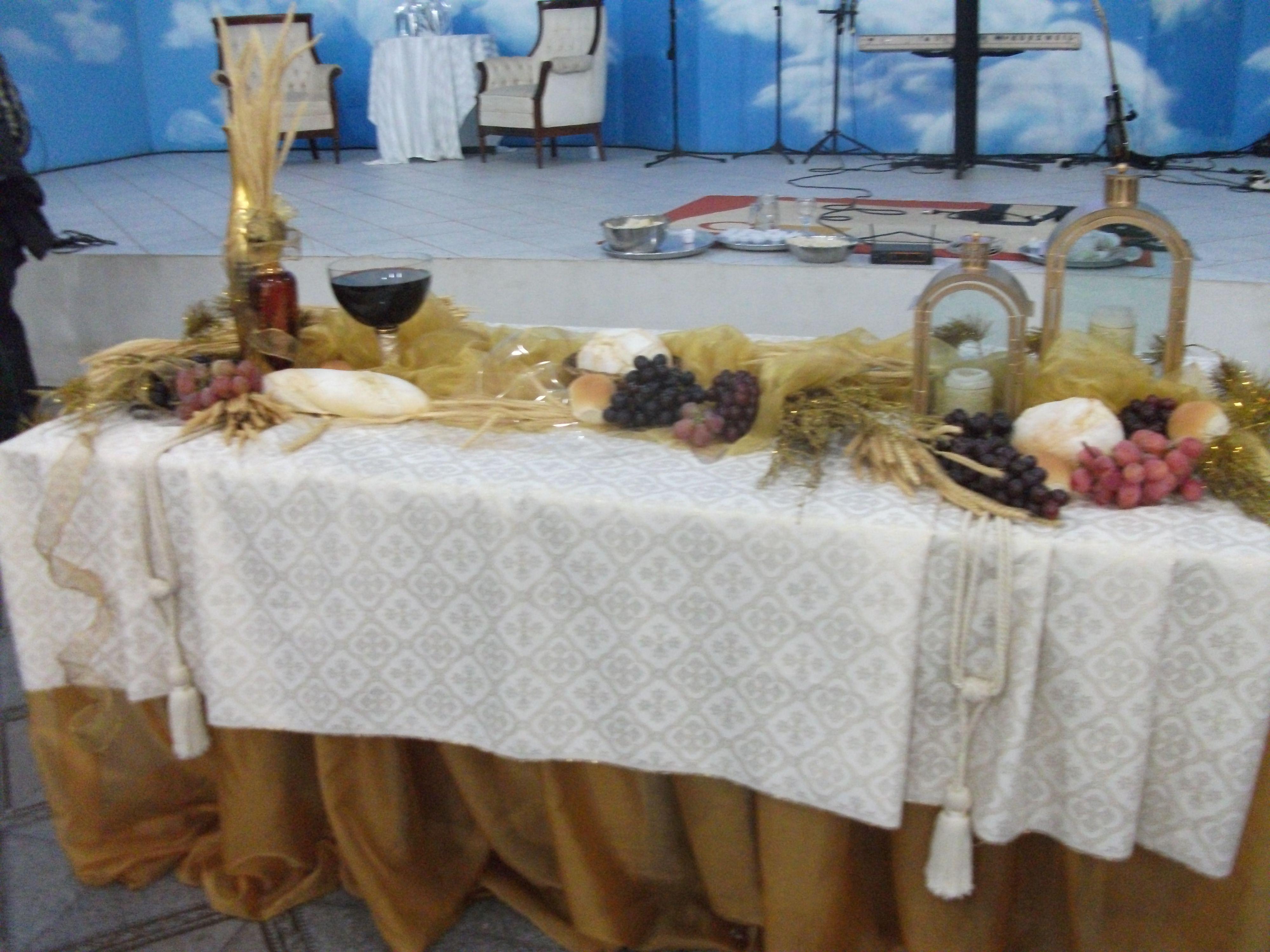 Mesa Ceia de Ano Novo na Igreja 8 HandFactory by Vera Lemos Mesas Decoradas, Ocasiões  -> Decoração Para Primeira Comunhão Na Igreja