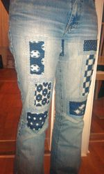crochet patches on jeans