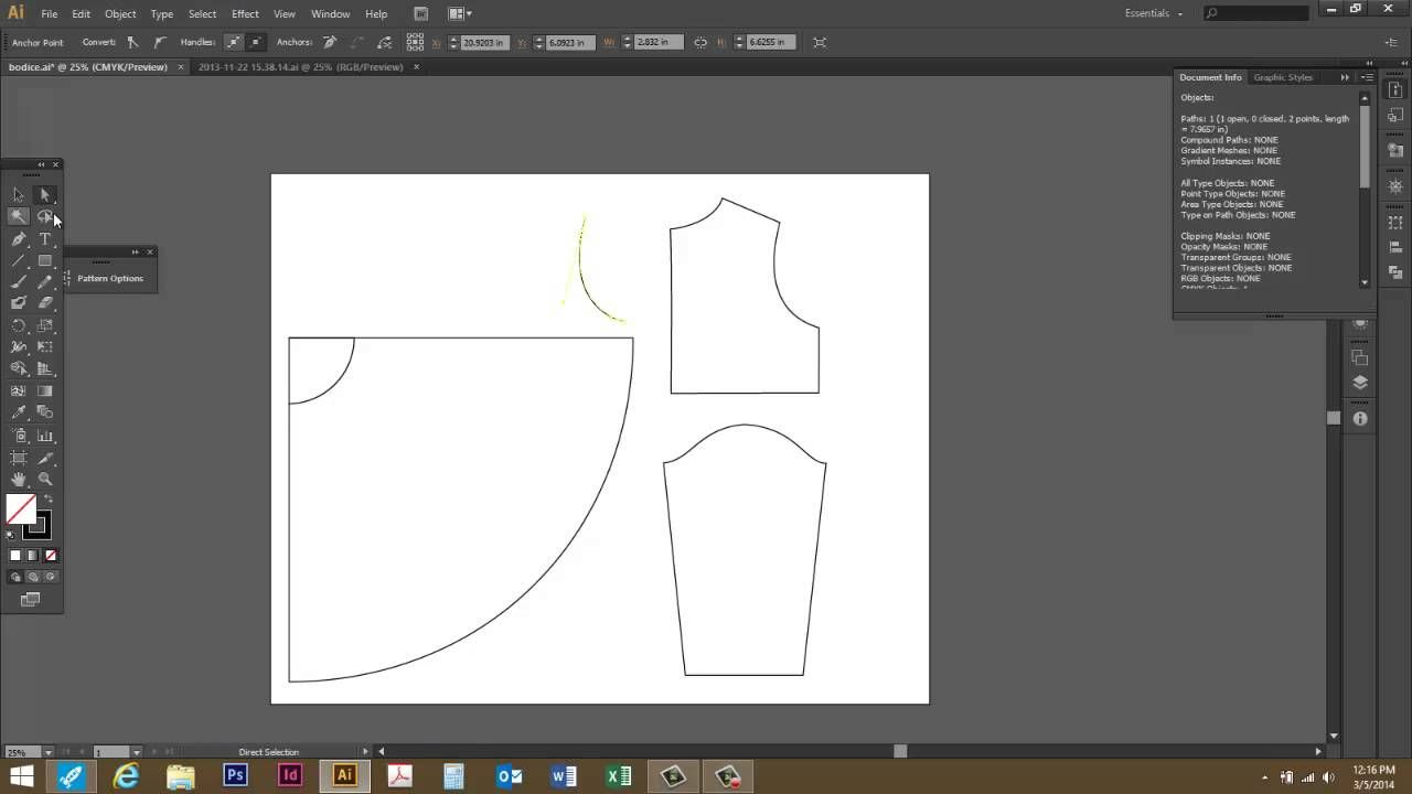 Measuring A Curved Path Or Line In Adobe Illustrator Cs6 Pattern