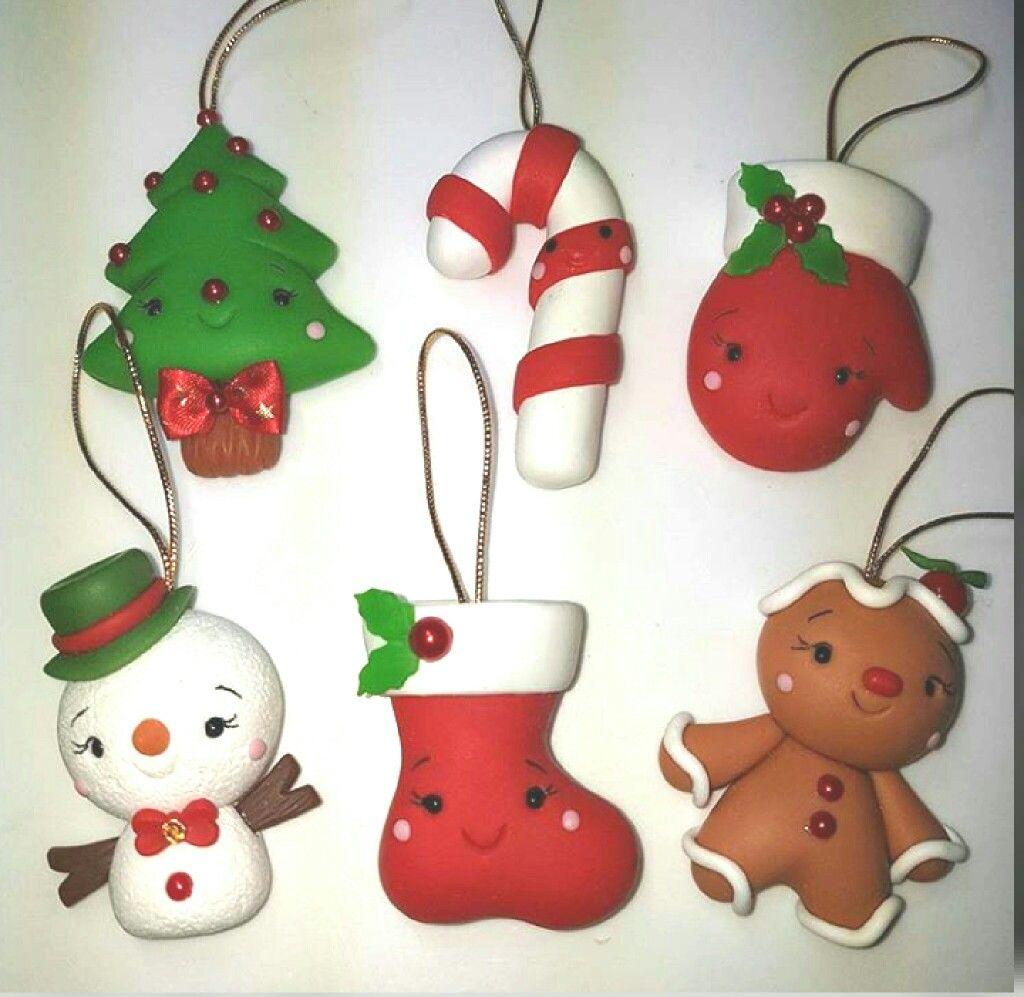 Artesaniasfaciles Manualidades Porcelana Fría Navidad Adornos Navideños