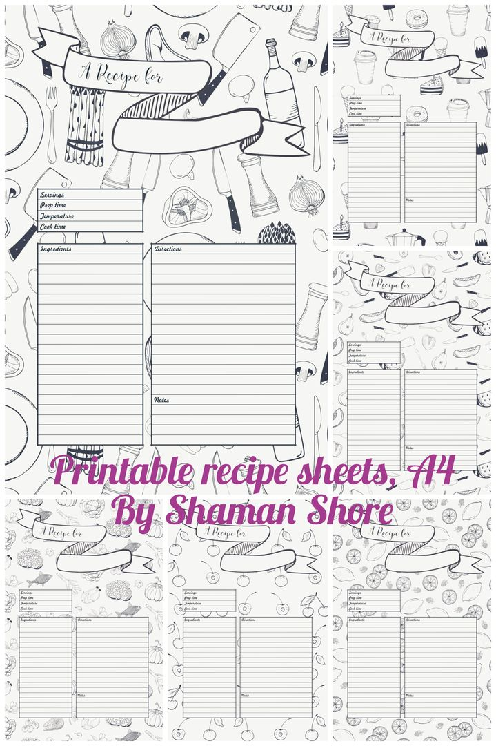 Recipe Template Recipe Planner Happy Planner Templates Recipe